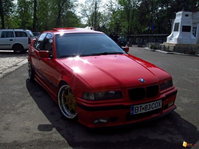 Bmw E36 318i Red New Paint Bbs Rt 8j Front 9j Back 220 Bhp