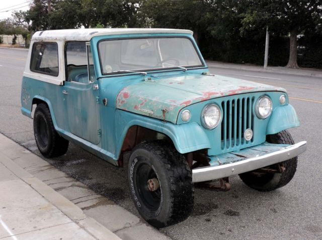 california jeep jeepster commando 4 wheel drive 4x4 a engine lots of patina for sale in los. Black Bedroom Furniture Sets. Home Design Ideas