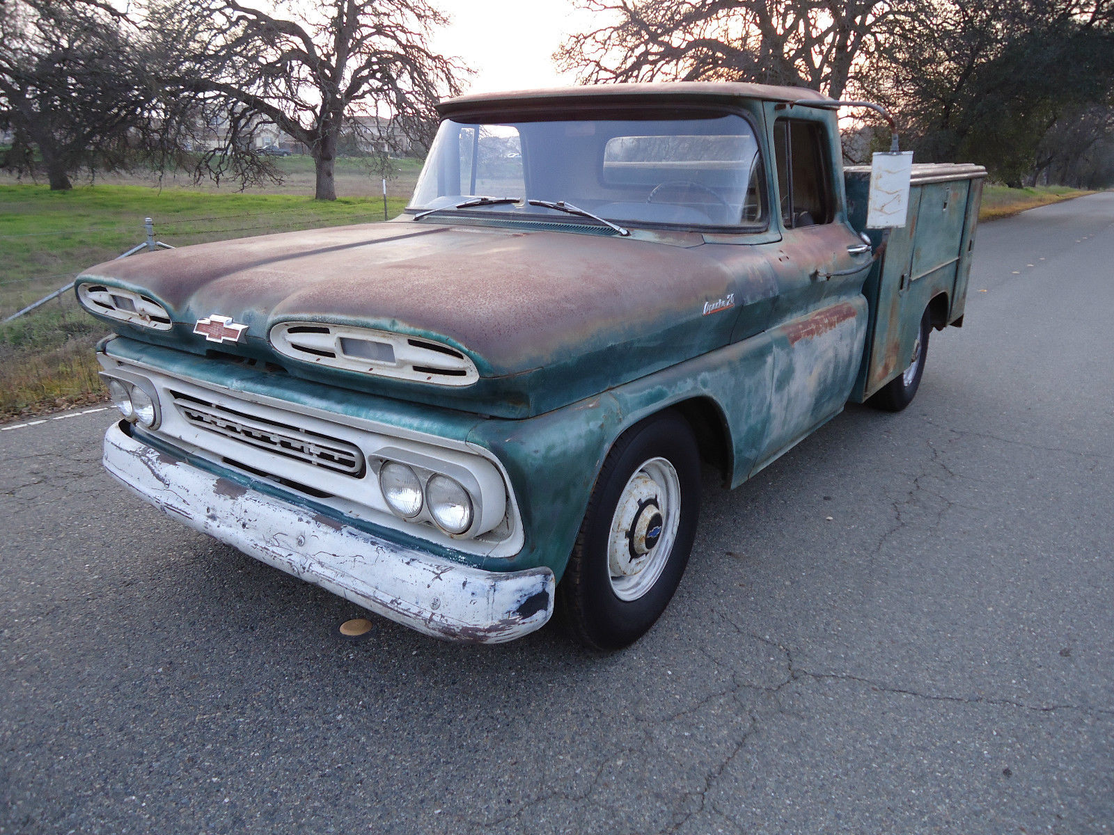 California Native 1961 Chevy Utility Bed Truck With Natural Patina C10 Pickup For Sale In Lincoln United States