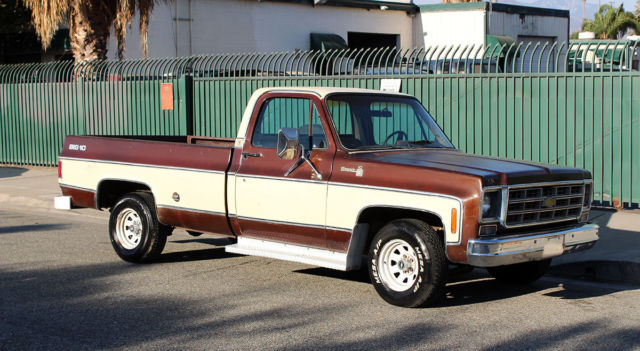 California Original 1978 Chevy Silverado 10 Big 10 No