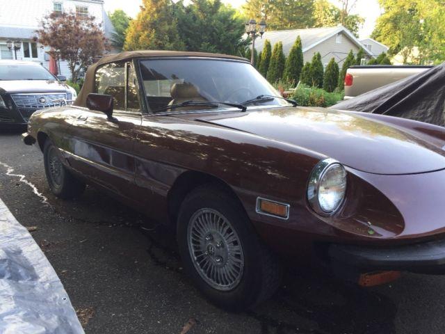 1986 alfa romeo veloce spider convertible