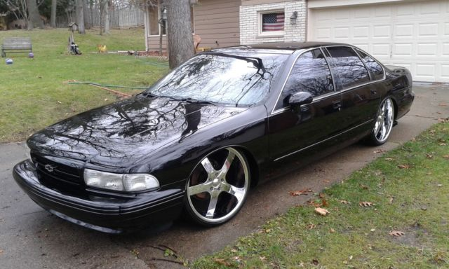 chevrolet impala 1994 super sport ss collector custom p code black 17 rims. Black Bedroom Furniture Sets. Home Design Ideas