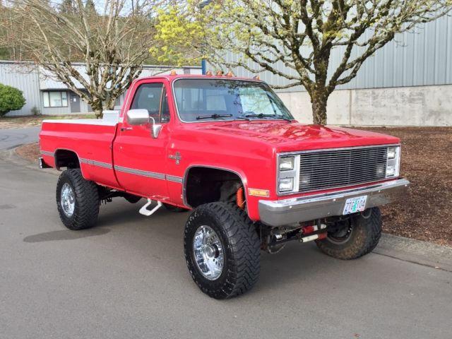 Chevrolet Silverado K30 K20 K10 Gmc Sierra C K 3500 2500 4x4 Lifted 1981 1987