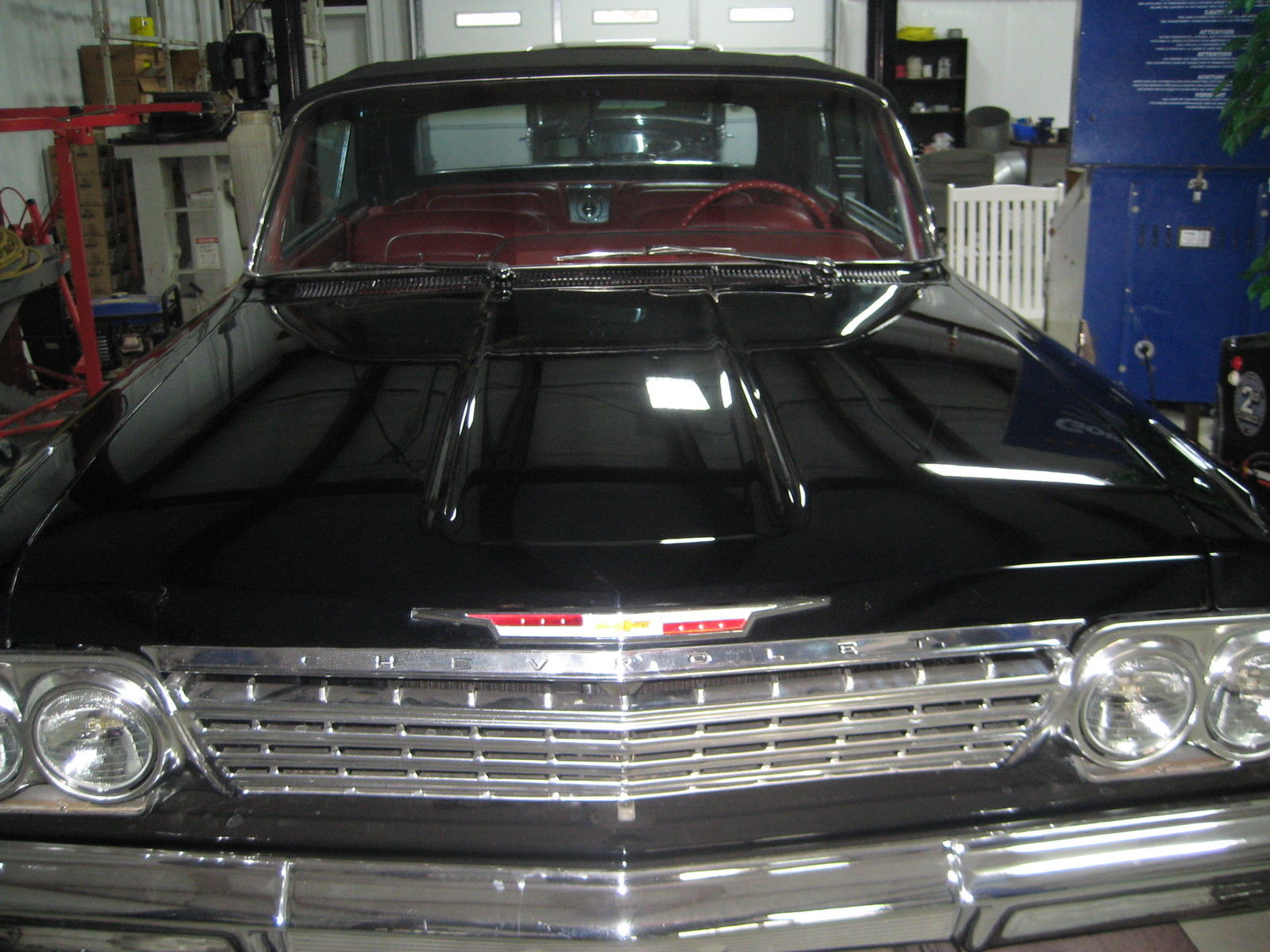 Chevy Impala Ss Black Convertible 409 1962 4 Speed Frame Off 1966