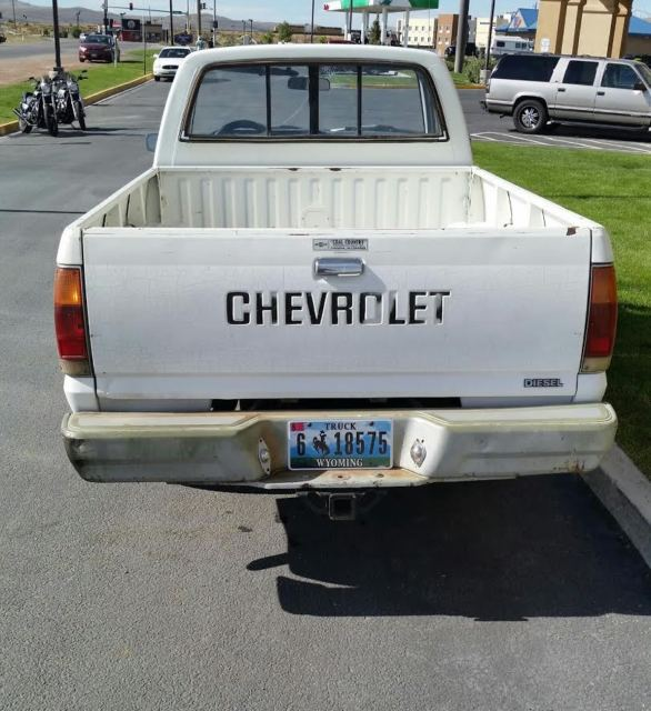 Chevy Luv Diesel 4x4 Isuzu 22 33mpg Manual Shift 1981 98 Wyoming