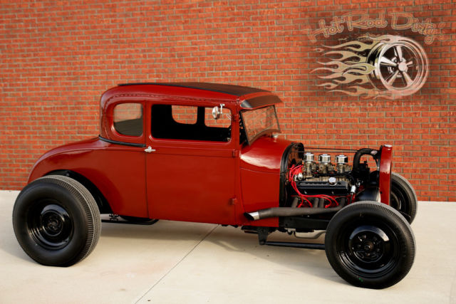 Chopped Ford Model A Coupe Hotrod Street Rat Hot Rod