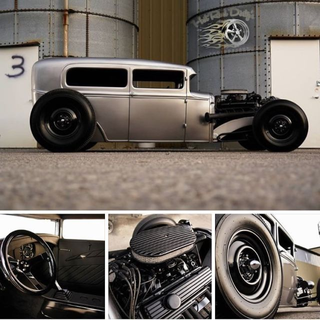 Chopped Ford Model A Hot Rat Street Traditional Rod Sedan