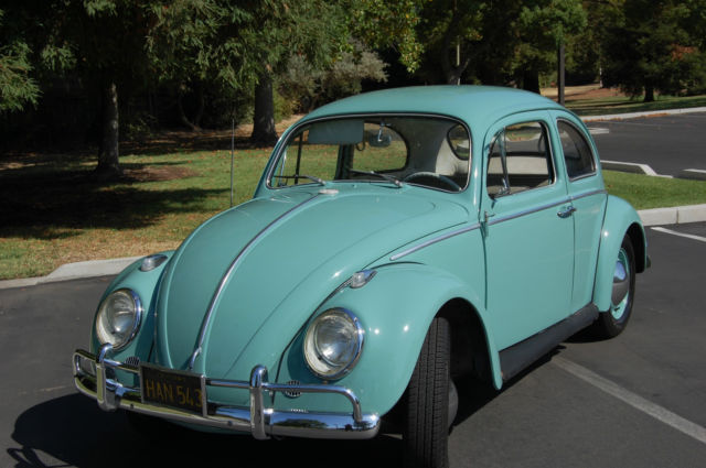 classic 1963 vw beetle 2 door new teal green paint rebuilt motor tranny. Black Bedroom Furniture Sets. Home Design Ideas