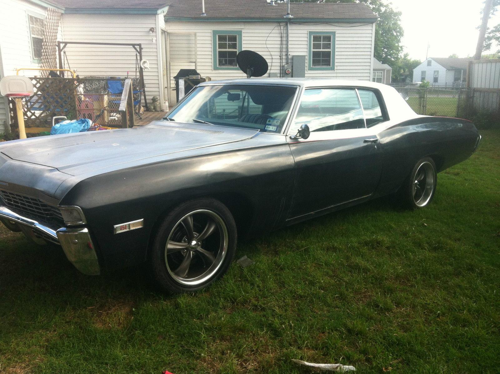 Classic 1968 Chevrolet Caprice Rare Hide Away Headlights 454 Big 2 Door Block 495 Hp