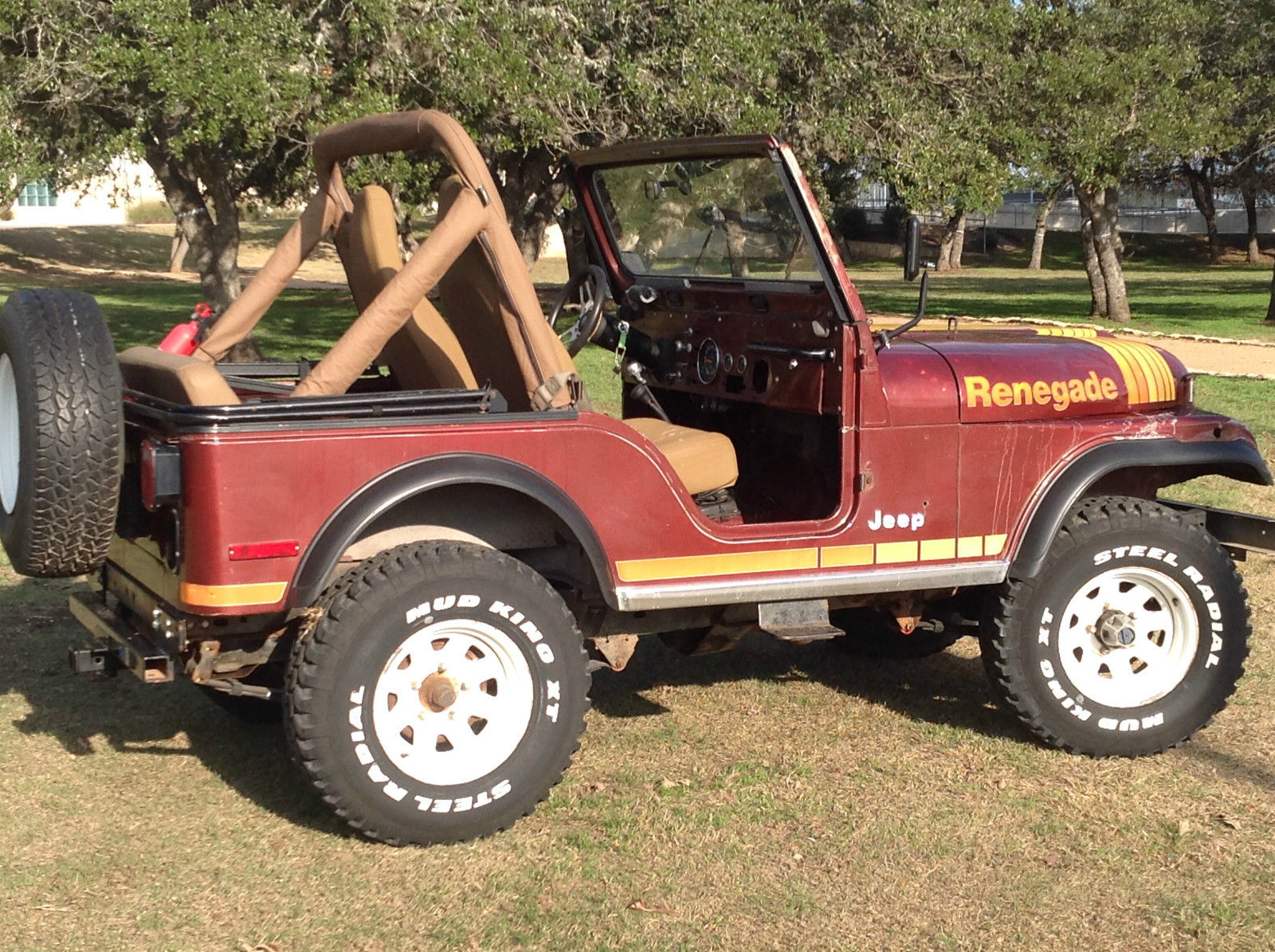 Classic 1980 Jeep Cj5 Renegade Factory V8 With 4 Speed Trans Old For Sale