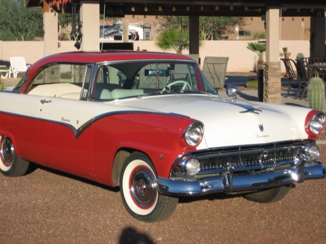 Classic cars 1955 ford victoria 2 door hardtop for 1955 ford 2 door