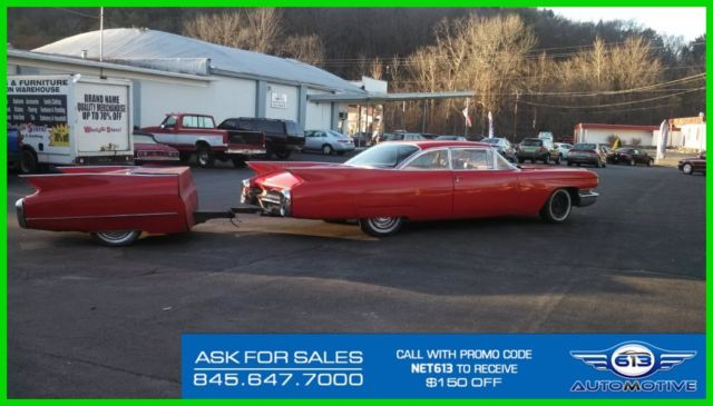 Classic Vintage 1960 Cadillac Eldorado Red Coupe With Custom Tow
