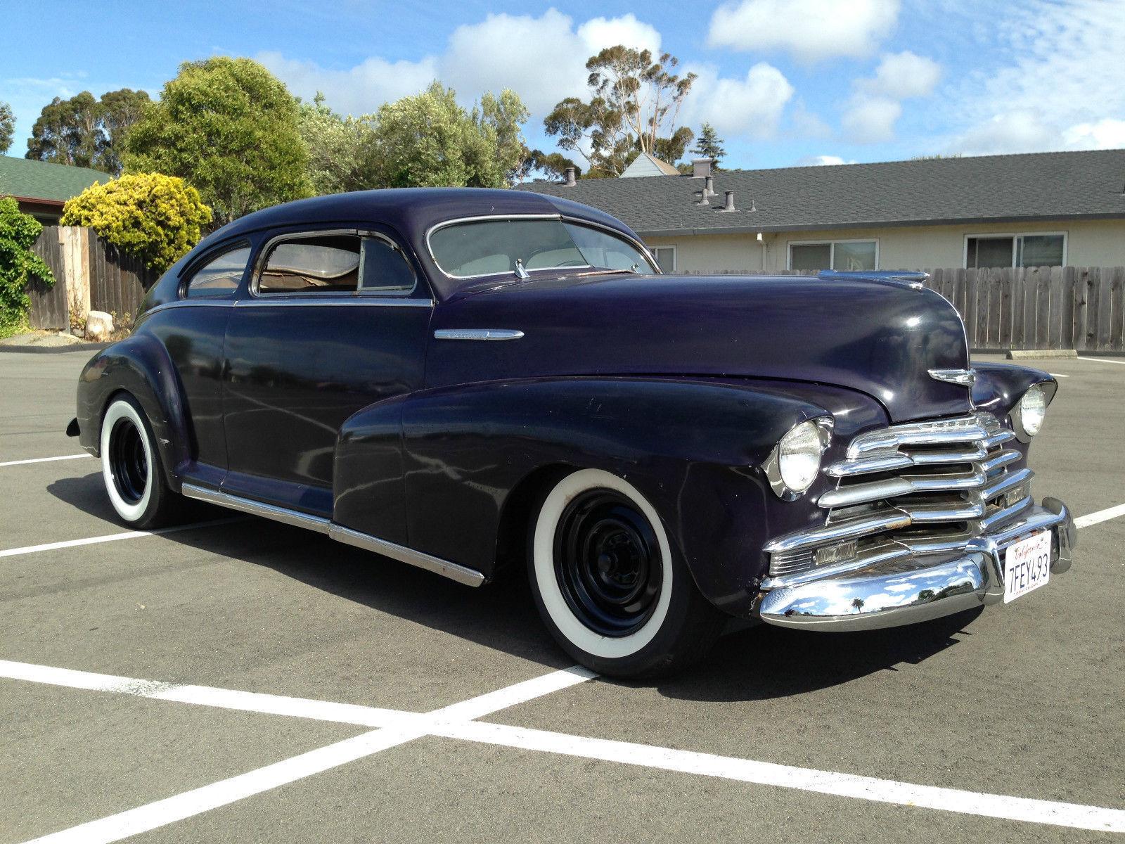 Custom 2 door 1947 chevy fleetline aero sedan chopped for 1947 chevy 2 door coupe