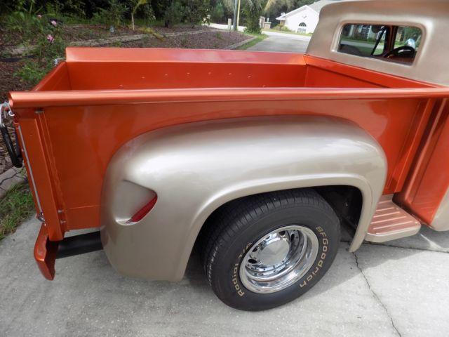 custom ford truck 1965 1955 lowered chopped top