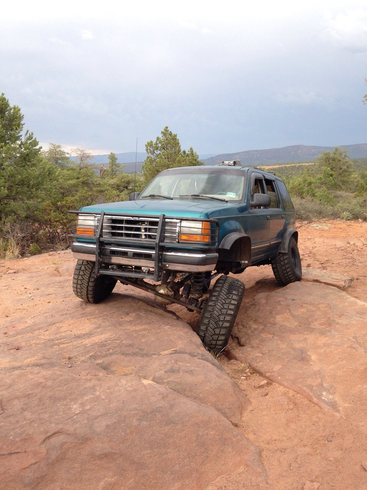 Custom lifted 94 ford explorer off road truck