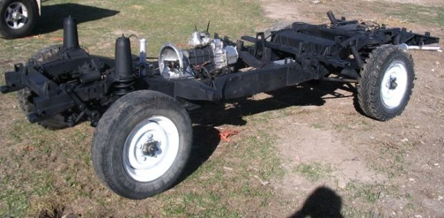 Defender 110 Complete Rolling Chassis Frame And Rear 5