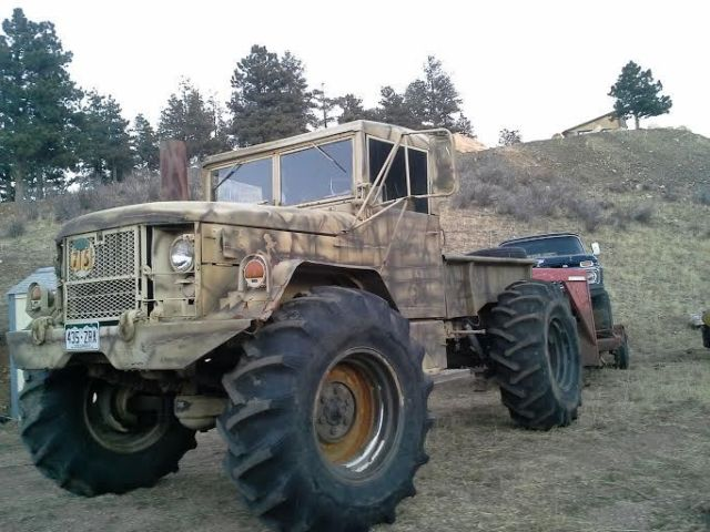 58112 Deuce N 12 Bobbed 4x4 Off Road Military Camo Truck Mud Tires Air Ride on 1971 chevy truck 4x4