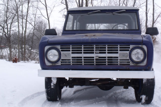 Early ford Bronco 1966 with eyebrow Grille low reserve ...