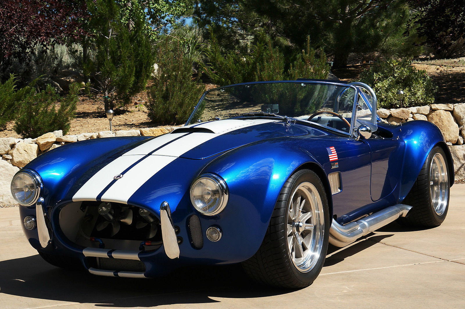 era 1965 shelby cobra replica era 430 blue w white stripes. Black Bedroom Furniture Sets. Home Design Ideas