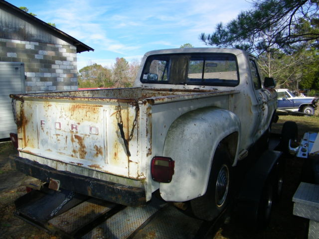 F100 Step Side P U In Solid Cond This Is Not A Rust Bucket