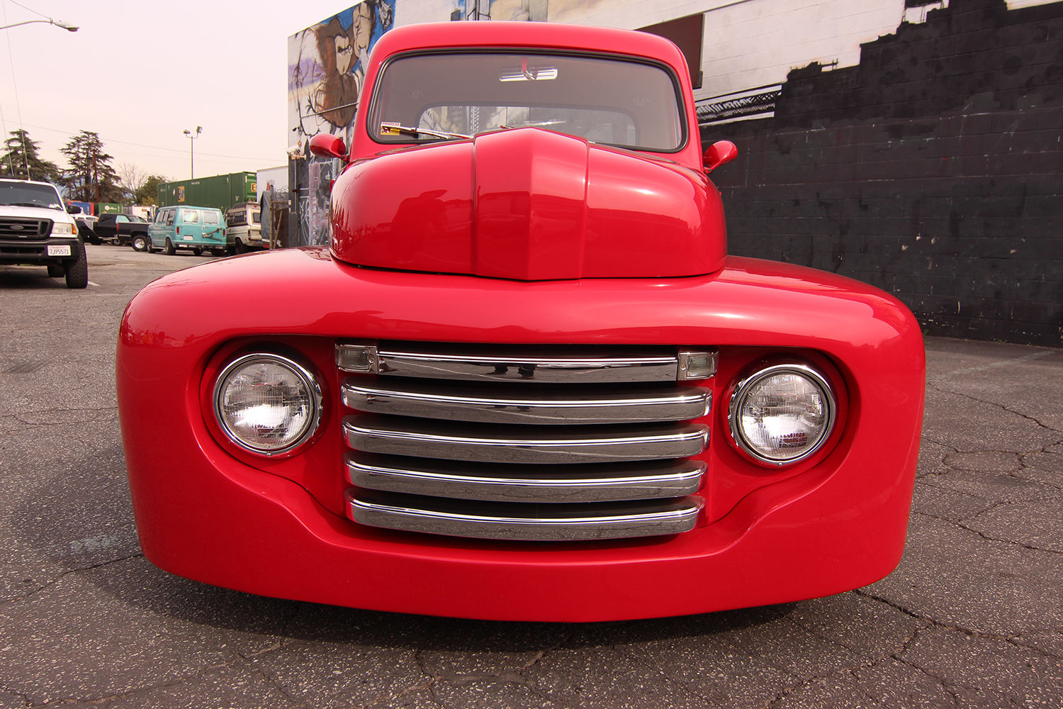Ford 1951 Custom Ford F1 Pickup Red 302 Air Power Air