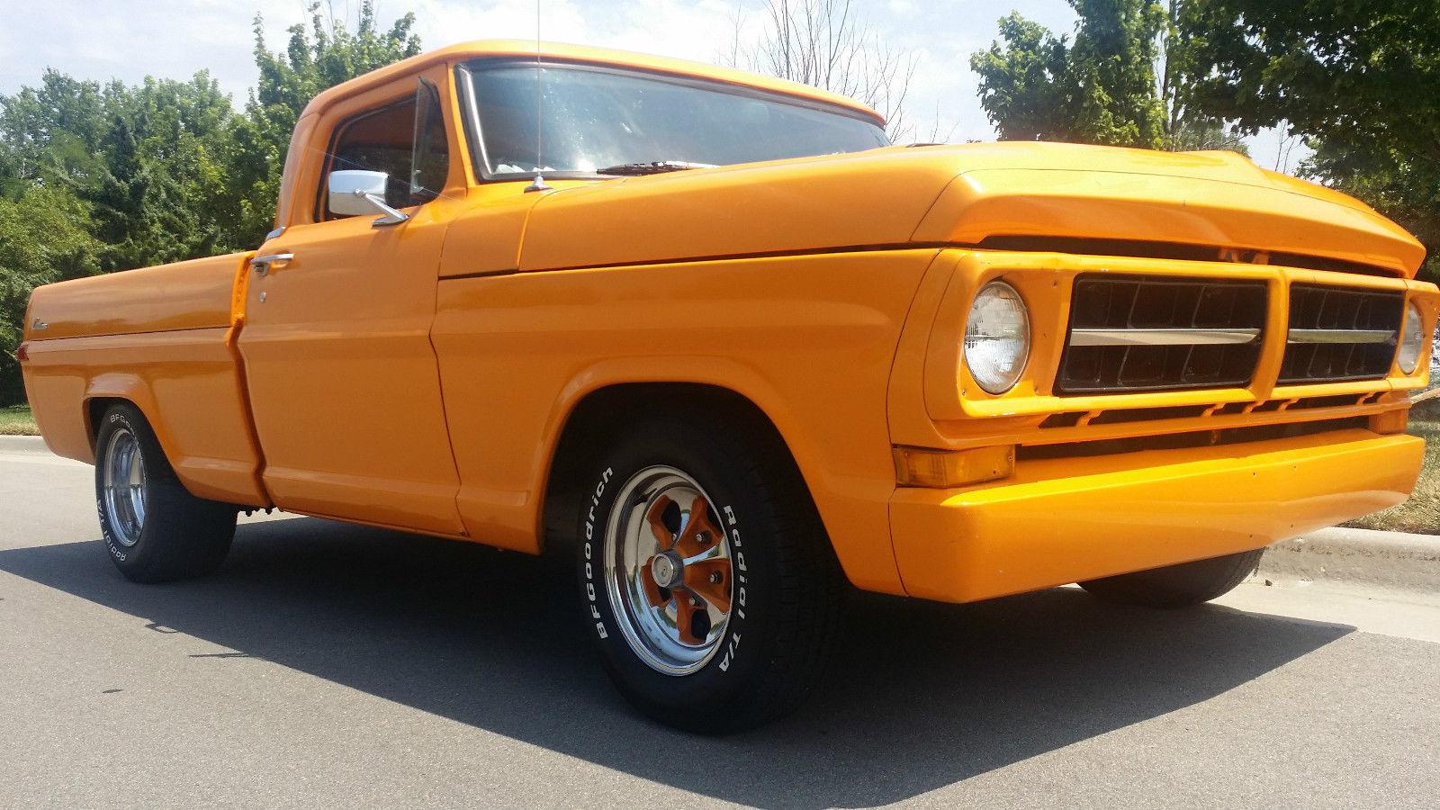 Ford F100 Custom Show Truck Chopped Orange Muscle 1955 Interior