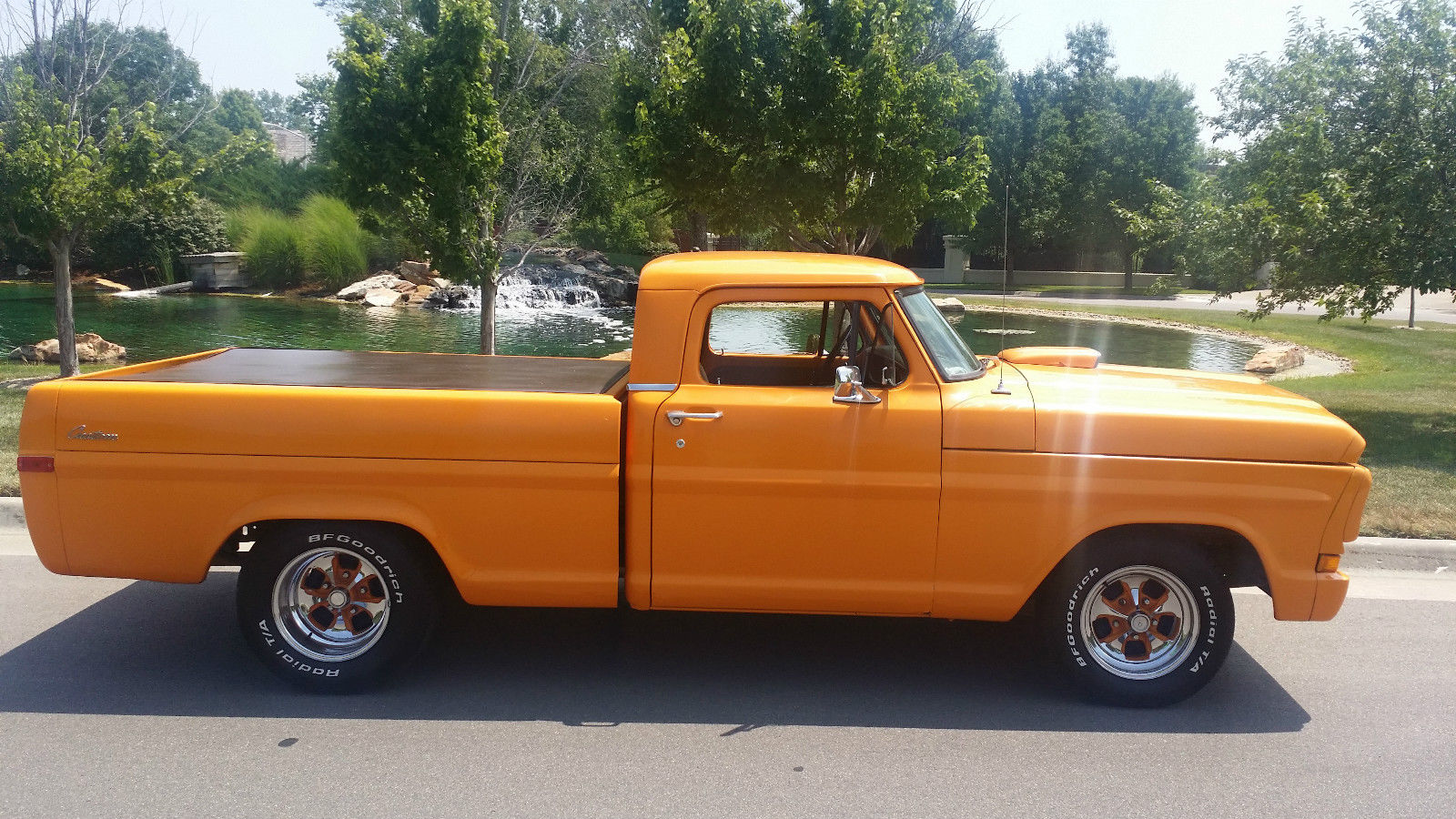 ford f100 custom show truck chopped orange f100 muscle truck. Black Bedroom Furniture Sets. Home Design Ideas