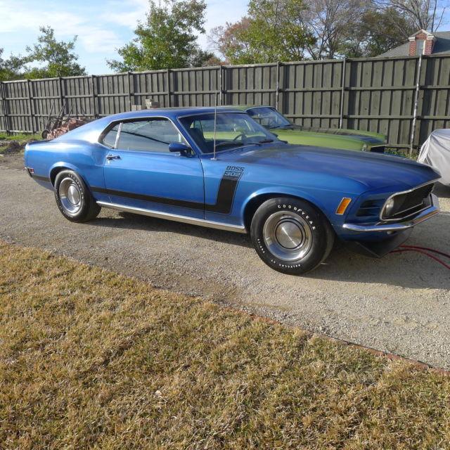 Ford Mustang Boss 302 Medium Blue /Black, Original Paint