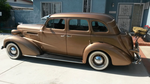 Fully Restored Gold 1937 Chevy Master Deluxe 4 Door