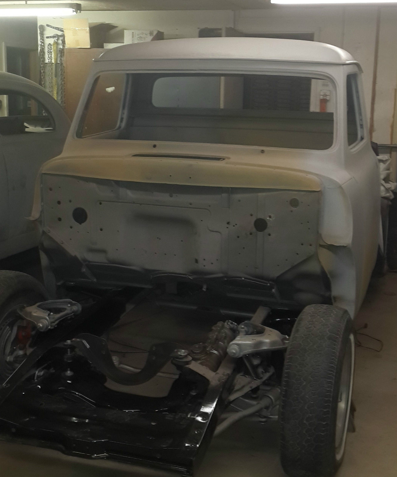 Hot Rat Rod Cab Hood And Clean Title 1955 Ford F100 1 2 Ton No Reserve