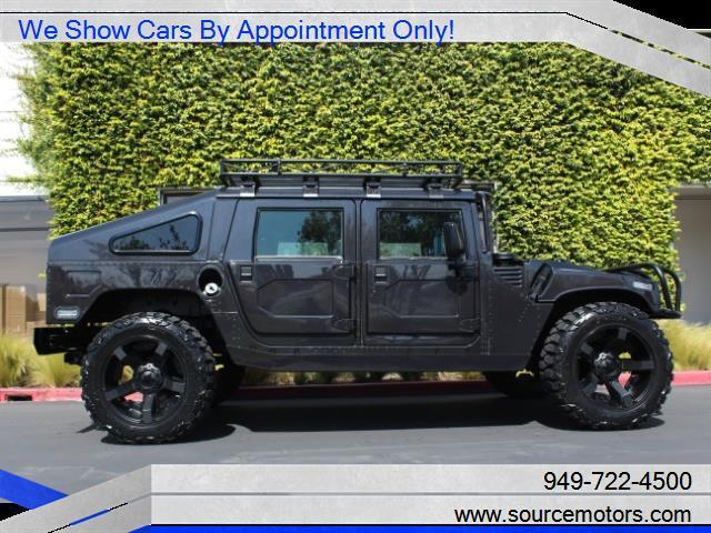 Hummer H1 4 Man Hardtop w/ Slantback, Diesel, Custom Black Interior ...