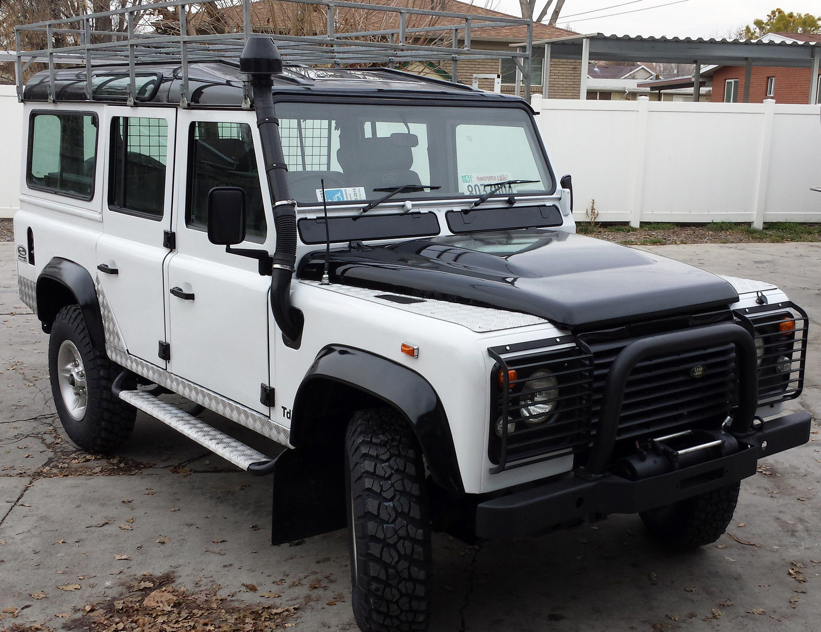 land rover defender 110 with a nice restoration diesel manual like new. Black Bedroom Furniture Sets. Home Design Ideas