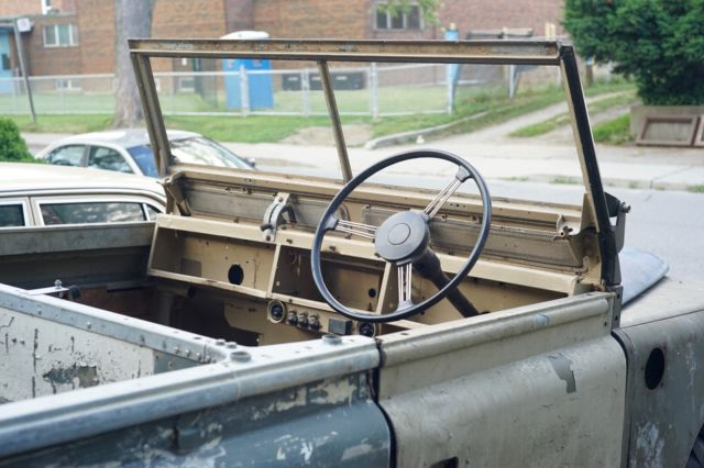 land rover series ii 109 with nos frame bulkhead