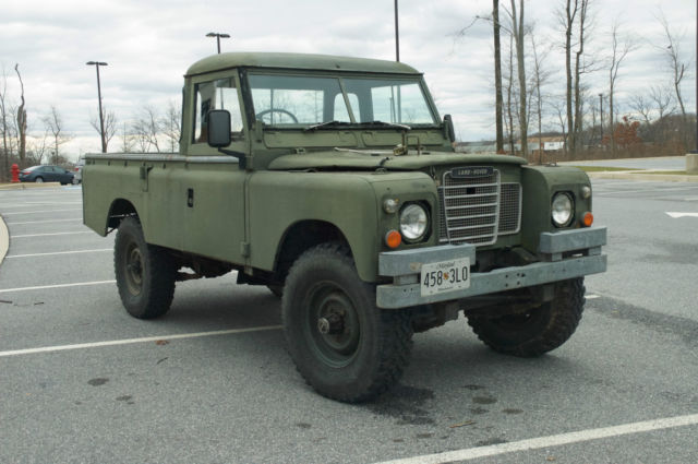 Land Rover Series Iii Pickup Military Ffr 109 Quot Wheelbase