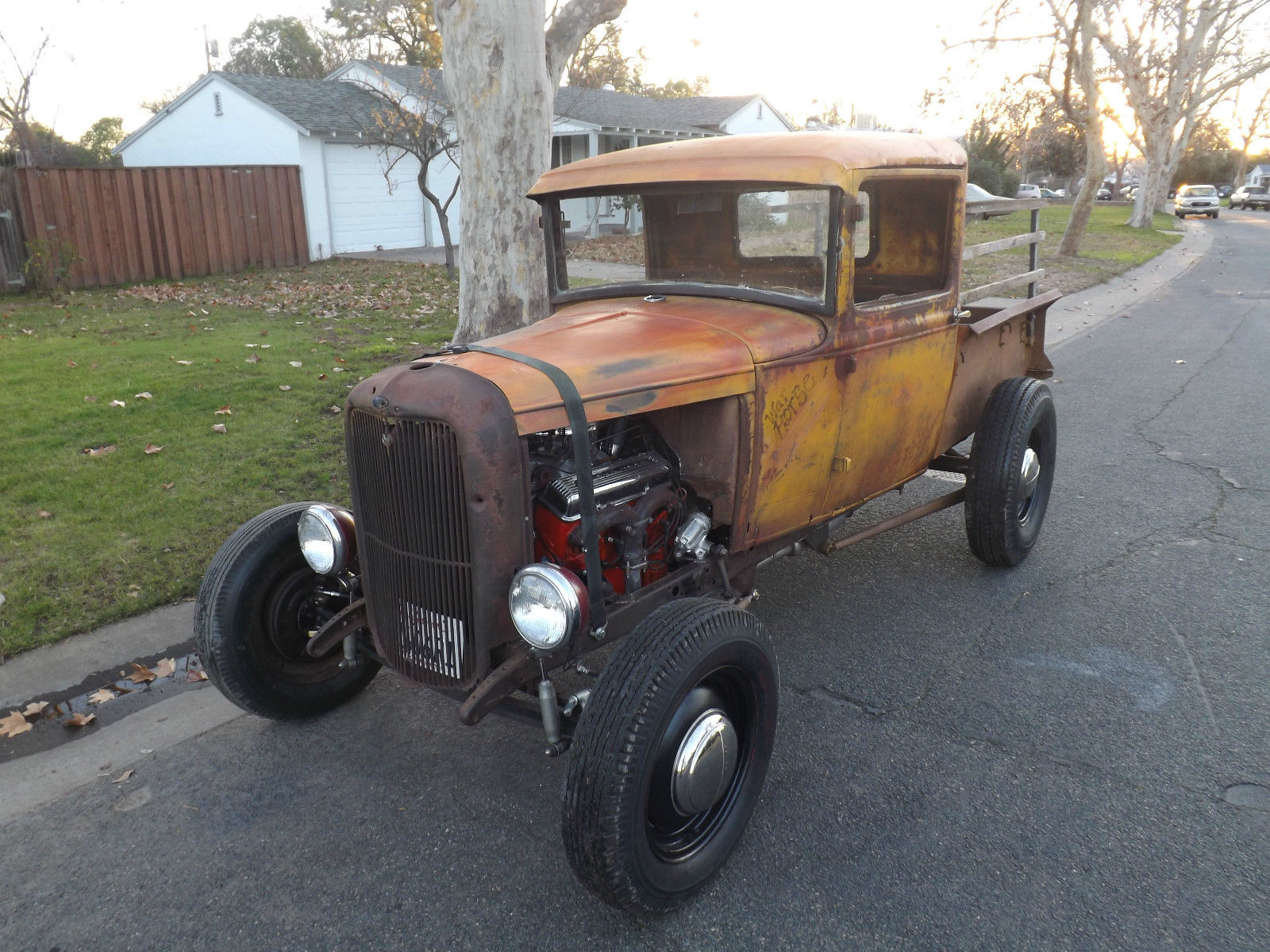 Late 1931 Pick Uptruck Sbc V8 Hot Rat Rod Custom Daily Driver No 1955 Ford F100 Wide Bed Model A Traditional Pickup Patina Truck For Sale In Sacramento California United States