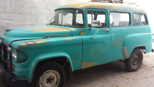light green 1964 power wagon d100 dodge town wagon. Black Bedroom Furniture Sets. Home Design Ideas