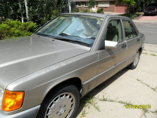 Mercedes benz 190 e 4 cly 2 3 liter mileage 107740 gold for Mercedes benz boulder