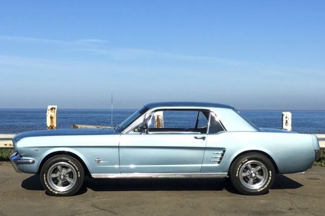 MINT 1966 Ford Mustang Coupe 289 V8 3 Speed Manual Pony Package