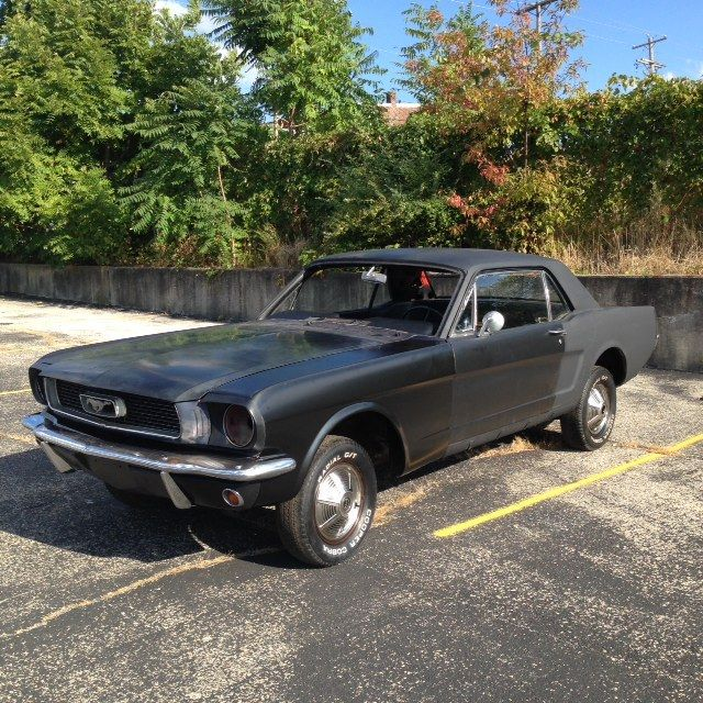 Mustang coupe project car ford classic car vintage - Ford mustang vintage ...