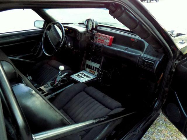 Fox Body Mustang Drag Car Interior