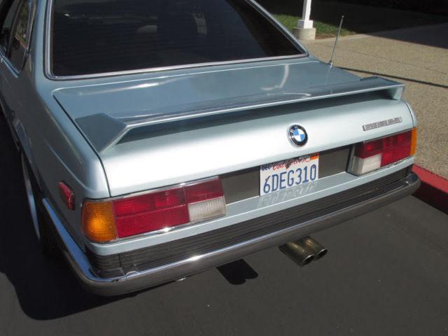nice 1984 bmw 635csi euro 5 speed e24 turbo shark rust free