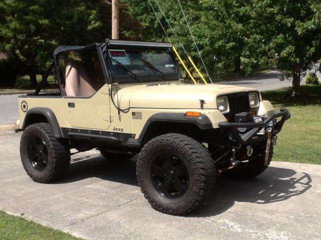 Nice Built 1990 Yj Jeep Wrangler Desert Tan On 35 Quot Nittos
