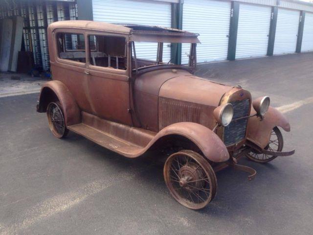 Antique Auto For Sale In Arkansas: NO RESERVE 1928 Ford Model A Tudor Sedan Two Door Rat Rod
