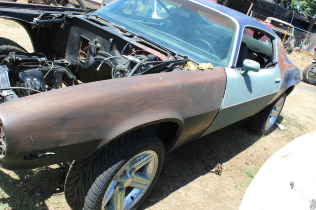 no reserve 1973 chevy camaro split bumper rs ss z28 project 70 71 72 chevrolet. Black Bedroom Furniture Sets. Home Design Ideas