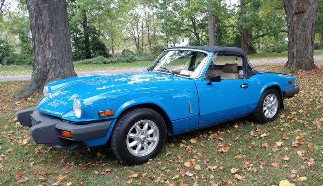 No Reserve 1980 Triumph Spitfire 1500 One Owner Extra Clean