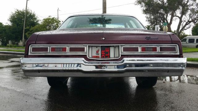 NO RESERVE.1974 Chevy Impala 4 Door , Candy Brandy Wine