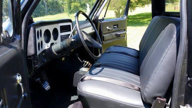 Old Chevy pickup, restored, k10 custom chevy truck, blue ...