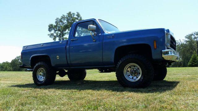 Old Chevy Pickup Restored K10 Custom Chevy Truck Blue Square Body