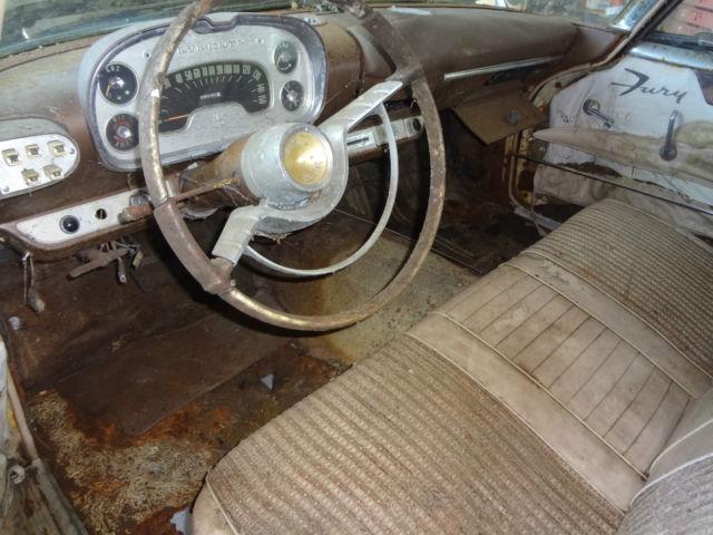 Original 1957 Plymouth Fury - 318 Dual Quads Bumper Wings ...