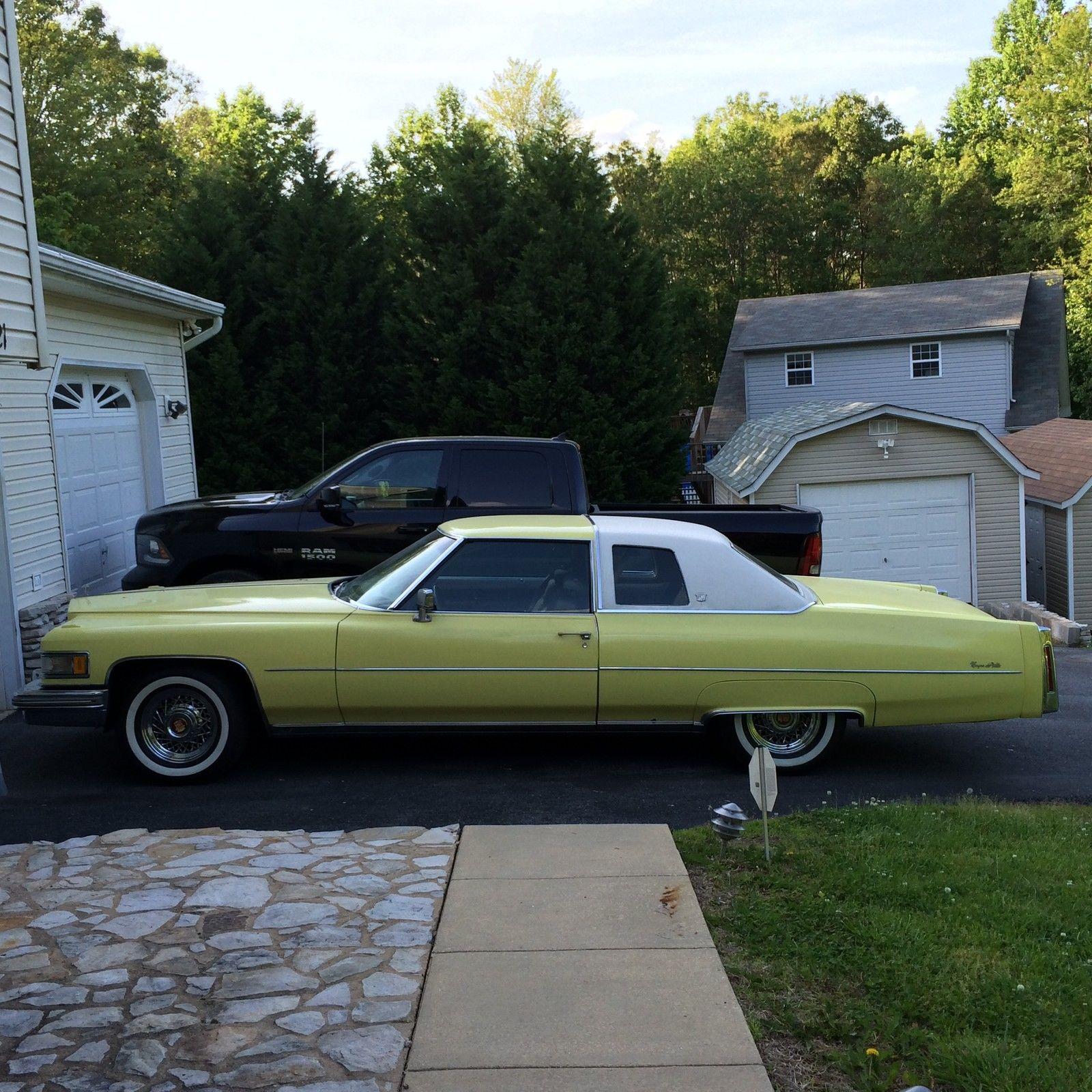 Cadillac 500 For Sale: Original Yellow Cadillac, 500 CID V8, 2 Door, Rear Wheel